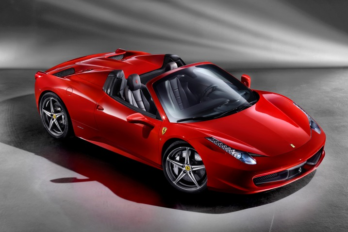 Ferrari+458+italia+spyder+black Gts black smoked roof reversing added on