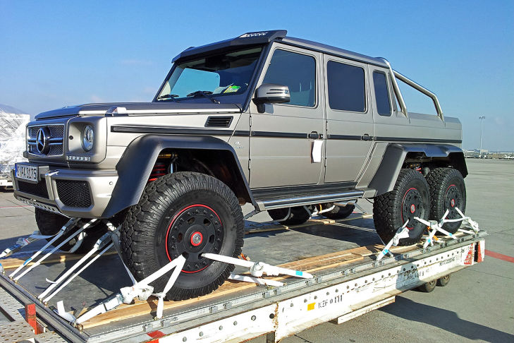 two 6 wheeler mercedes benz g63 amg trucks headed for the middle east brake banzeen. Black Bedroom Furniture Sets. Home Design Ideas
